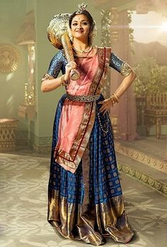Mahanati: A Tollywood Ode To Timeless Fashion Half Saree Designs, Saree Blouse Neck Designs, Fancy Blouse Designs, Cute Celebrities, Indian Celebrities, Celebs, Indian Designer Outfits, Indian Outfits, Saree Wearing Styles