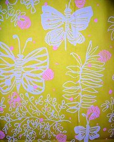 Polka-Butter Key West Lilly Pulitzer fabric by Zuzek 1970's