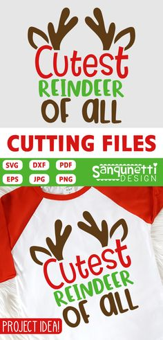 Cutest reindeer of all SVG cutting files is ready for your Christmas and winter projects. Cut them on your Silhouette and Cricut, as well as other machines that can read these formats. Graphics Included: Cutest reindeer of all You may Not: Christmas Vinyl, Christmas Shirts, Christmas Projects, Kids Christmas, Xmas, Cricut Vinyl, Cricut Air, Vinyl Shirts, Silhouette Cameo Projects