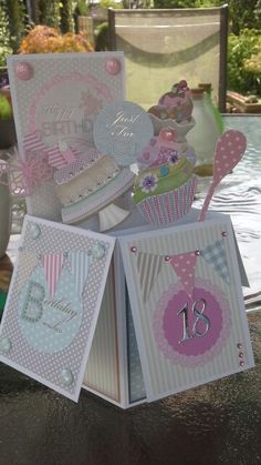 18th Birthday card 16th Birthday Card, Birthday Cards For Boyfriend, Birthday Cards For Boys, Handmade Birthday Cards, Happy Birthday Cards, Special Birthday, Pop Up Box Cards, Card Boxes, Boxed Christmas Cards