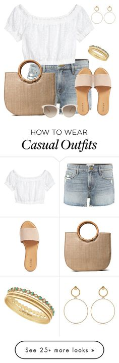 """""""Casual Summer"""" by dalba77 on Polyvore featuring Frame, Hinge, Lucky Brand, Maria Francesca Pepe, Chopard, casual, chic and summerstyle"""