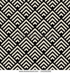 art deco black and white texture. seamless geometric pattern.