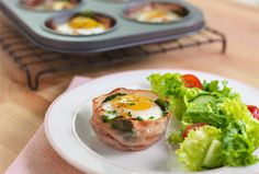 Baked egg cups make for easy weekday breakfasts. Spinach or kale add some much-needed greens to this great recipe. Breakfast Dishes, Breakfast Recipes, Breakfast Ideas, Sausage Frittata, Baked Egg Cups, Muffin Tin Recipes, Muffin Tins, Spinach And Cheese, Goat Cheese