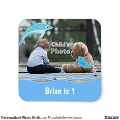 Personalized Photo Birthday Stickers