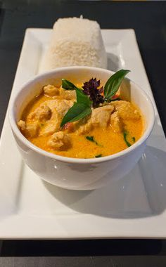 Easy Red Curry with Chicken & Jasmine Rice ... This recipe is one of our all-time favorites! Like a mini-vacation in a foreign country, it's an exotic flavor escape after a busy day at work. #recipe