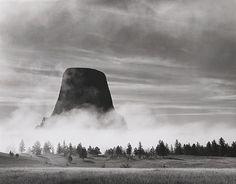 Rising Fog – Devils Tower, WY, 1988. Bob Kolbrener