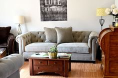 Going to look at this tomorrow!  This might just be my next sofa!!!  Martha Stewart Collection Sofa, Saybridge
