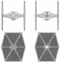 Vader's Tie Fighter Schematic | My Style | Pinterest | Star ... on tie phantom, y-wing schematic, tie advanced,