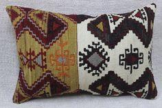 Decorative kilim pillow,Handmade pillow,Cushion cover,Turkish kilim pillow,Bohemian pillow,Gypsy,pillows16 x 24 inches,40 x 60 cm
