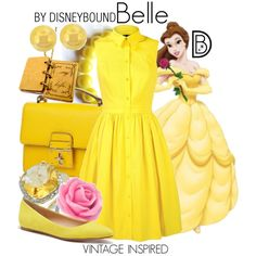 Disney Bound: Belle from Disney's Beauty and the Beast (Vintage Inspired Outfit)