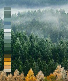 landscape orange green blue colors color palette