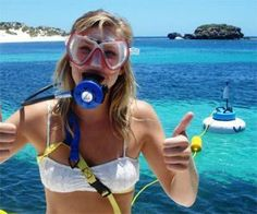 Snorkel Hookah-definitely would love to have one to dive with!