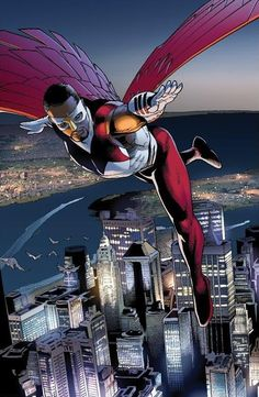 The Falcon - Steve McNiven ~I am really surprised that they have not yet taken one of the African American superheroes to the next level and into a movie~there are a good amount to pick from~ o_O