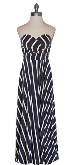 Stripes infinity dress