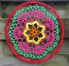 Crochet Rings, Crochet Doilies, Crochet Yarn, Mandala Crochet, Beanie Pattern Free, Crochet Headband Pattern, Doily Patterns, Crochet Patterns, Crochet Mandela