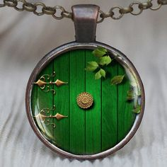 Hobbit Door pendant, Lord of the Rings necklace, Hobbit Door Necklace #Handmade #Pendant