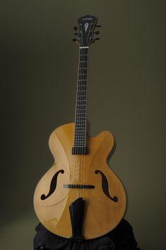 Exhibitor at The Holy Grail Guitar Show Mario Beauregard, Beauregard guitars, Canada