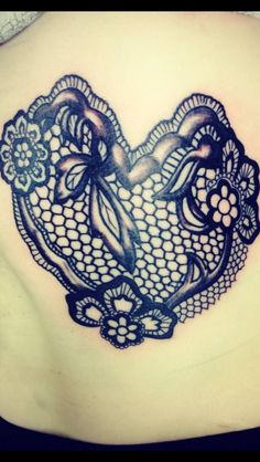 lace heart tattoos for women google search tattoo 39 s pinterest. Black Bedroom Furniture Sets. Home Design Ideas