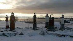 Lighthouse miniatures in Katarina Park ~~ Kotka ~~ Finland Beacon Lighting, Arctic Circle, Helsinki, Lighthouses, Finland, Scandinavian, Miniatures, Landscape, Park