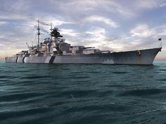 German battleship Bismarck by Ultrahigh detail @ deviantART. Poder Naval, Bismarck Battleship, Hms Prince Of Wales, Hms Ark Royal, Naval History, Navy Ships, Power Boats, Ship Art, Submarines