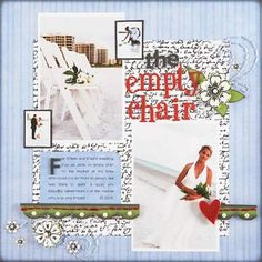 Wedding Scrapbook Layout Ideas: Special Tribute Layout