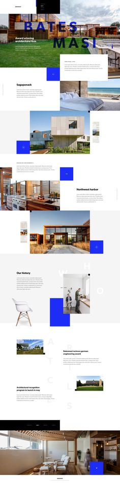 Website concept based on Bates Masi's Website