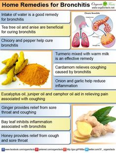 Home Remedies for Bronchitis Home remedies for bronchitis include some common and easy to use herbs and spices such as turmeric, ginger, bay leaf, honey. Home Remedies For Bronchitis, Asthma Remedies, Allergy Remedies, Herbal Remedies, Holistic Remedies, Natural Health Remedies, Natural Cures, Natural Life, Natural Healing