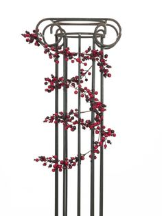 Europalms X-Mas 83500501 - Beerengirlande mit Beeren in verschiedenen Rottönen ¨Farbe rot (verschiedene Nuancen) ¨Länge 180 cm Säule nicht inklusiv