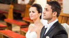Łukasz Fabiański z żoną Anną