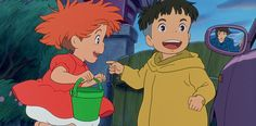"""Ponyo and Sosuke from """"Ponyo"""". Setting: Late 20th or early 21st century Japan. Based on """"The Little Sea Lady"""" by Hans Christian Anderson. Danish."""
