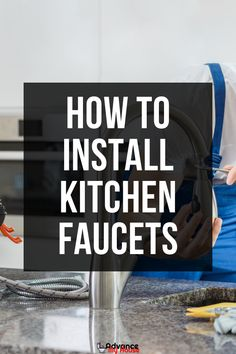 Are you planning on replacing your kitchen faucet? Whether that be because of a leak, or you simply want to upgrade the look of your kitchen, knowing how to install kitchen faucets is something every homeowner should learn. More from Advance My House. Kitchen Faucet With Sprayer, Best Kitchen Faucets, Bathroom Faucets, Dream Bathrooms, White Bathrooms, Luxury Bathrooms, Master Bathrooms, Luxury Kitchen Design, Best Kitchen Designs