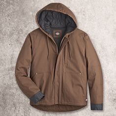 Dickies FLEX Duck Jacket is the ultimate in winter outwear. Mens Gear, Outdoor Workouts, Mens Fashion, Fashion Outfits, Italian Fashion, Hooded Jacket, Winter Fashion, Coat, Sleeves