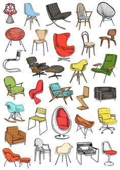 May Van Millingen (London), design modern design sketch chair mismatched chair upholstered office chair dining chair chair comfortable chair makeover wooden chair wooden chair chair design chair ideas Interior Architecture Drawing, Interior Design Renderings, Interior Sketch, Architecture Design, Classical Architecture, Drawing Furniture, Chair Drawing, Furniture Design, Furniture Projects