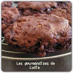 Les gourmandises de Lydie: Cookies choco-noix sans beurre, ni farine !
