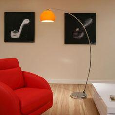 Retro Orange Glass Standard/Floor Lamp/Light LOU RET OR - Quatropi