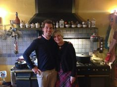 Photo souvenir de la mère et du fils pour cet agréable séjour passé à l'Ombre Bleue !