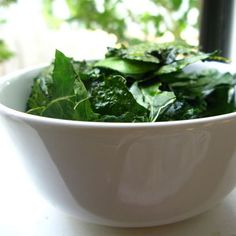 Kale Chips, a healthy alternative to potato chips.