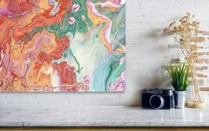 Jenny Rainbow Fine Art Photography Metal Print featuring the photograph Persian Spring. Fluid Acrylic Painting by Jenny Rainbow Painting Metal, Rainbow Metal, Fine Art Prints, Framed Prints, Fluid Acrylics, Metallic Paint, Fine Art Photography, Home Art, Persian