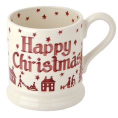 Our Christmas mugs 2013 -- Christmas Town pattern from Emma Bridgewater -- personalized pint mug Christmas Town, What Is Christmas, Christmas Mugs, Little Christmas, All Things Christmas, Christmas Holidays, Christmas Ideas, Xmas, Pottery Painting