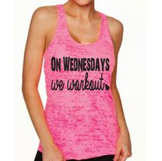 On Wednesdays We Workout. Motivational Tank Top. Gym by WorkItWear