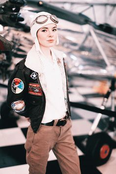 amelia earhart costumes   ... ve been so excited to get in costume. I'm Amelia Earhart this year