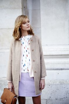Boden Square Tee, pattern top, coat, cardigan, long bob, spring, summer, autumn, style, fashion