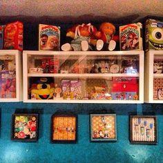 cereal killer cafe . bricklane . london London Cafe, Cereal Killer, Floating Shelves, Liquor Cabinet, Storage, Instagram Posts, Furniture, Home Decor, Cafes