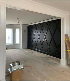 Same matte and glossy finish. House Styles, Black Accent Walls, House Design, Home Interior Design, Accent Walls In Living Room, Home, New Homes, Home Remodeling, Home Decor Inspiration