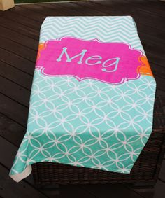This Pink & Blue Circle Personalized Towel is perfect! #zulilyfinds