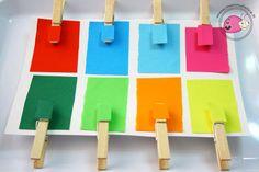 montessori-attivita-vita-pratica-motricita-fine-appaiamenti-di-colore-con-mollette Diy And Crafts, Crafts For Kids, Homemade Paint, Montessori Baby, Practical Life, Baby Games, Toddler Activities, Balloons, School