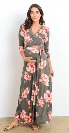 Blossoming Beauty Floral Print Wrap Maxi Dress (more colors)
