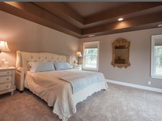Completely remodeled master bedroom with plenty of extra space.