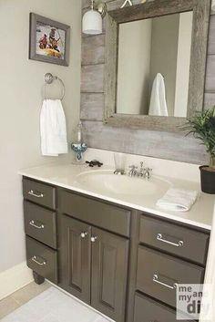 Barn wood bathroom