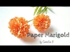 D.I.Y: How to make paper Marigold from crepe paper- Easy and Fast - YouTube